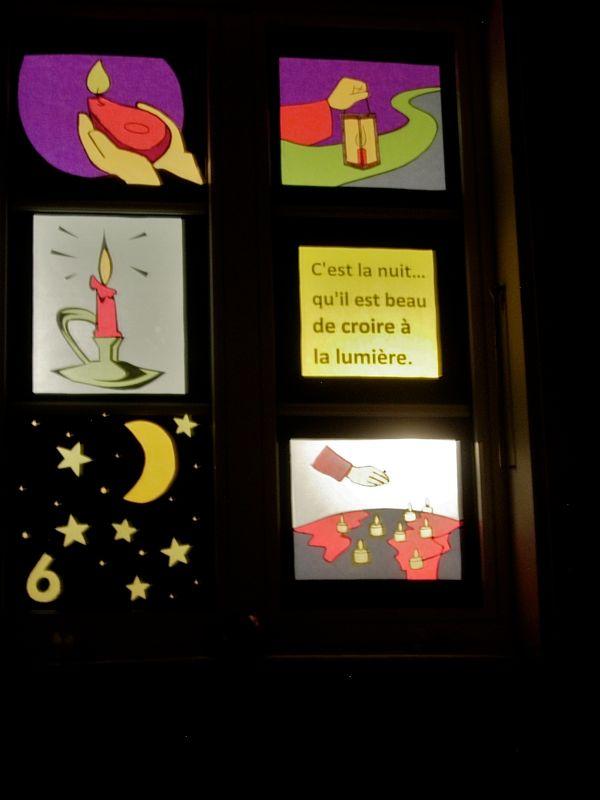 Fen tres de l 39 avent 2010 invitation calendrier et reflets for Decoration fenetre de l avent